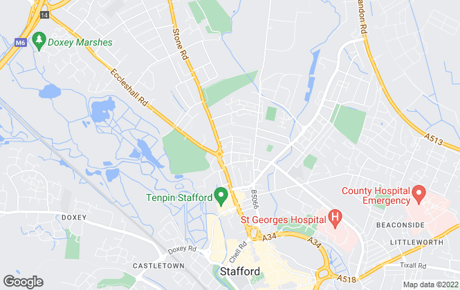 Map for Belvoir Sales, Stafford