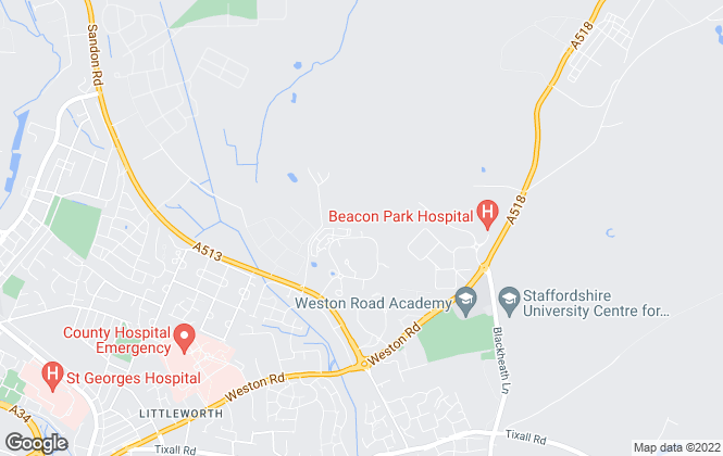 Map for Fisher German LLP, Stafford