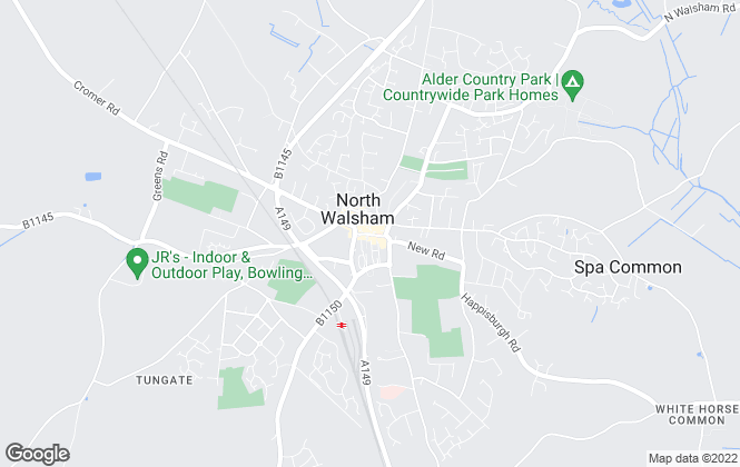 Map for Watsons, North Walsham