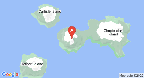 map of Cleveland Volcano (United States of America)