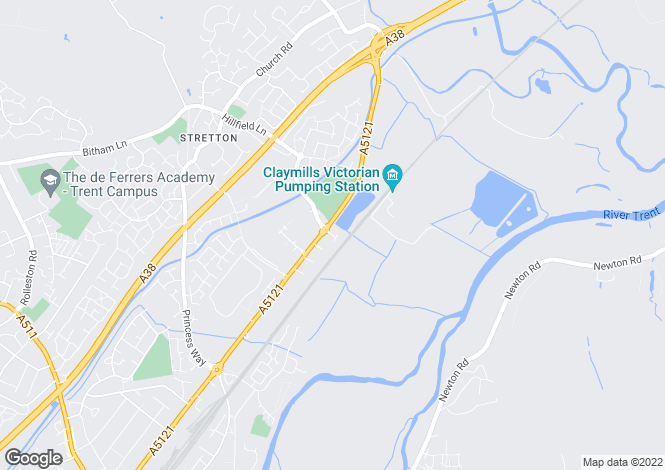 Map for The Evergreens, Stretton