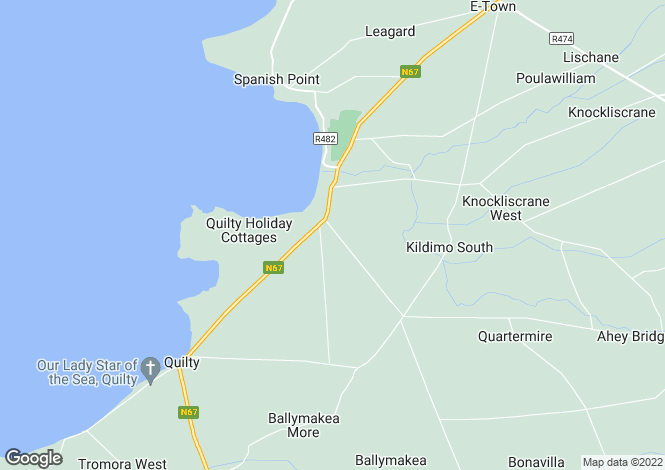 Map for Berry Lodge, Annagh, Miltown Malbay, Co. Clare