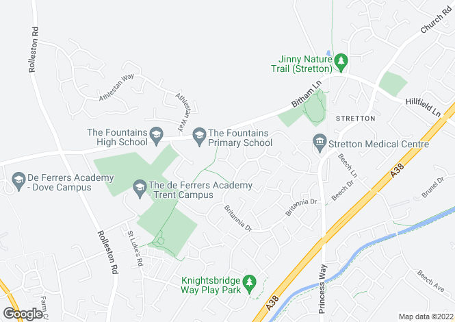 Map for TELMAH CLOSE, STRETTON