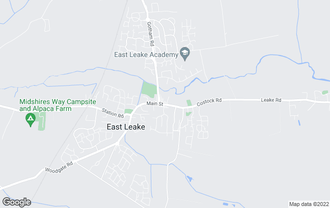 Map for John German, East Leake