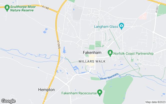 Map for William H. Brown, Fakenham
