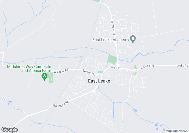 Map for Bateman Road, East Leake