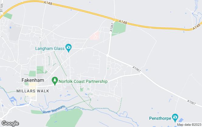 Map for The Norfolk Agents, Fakenham