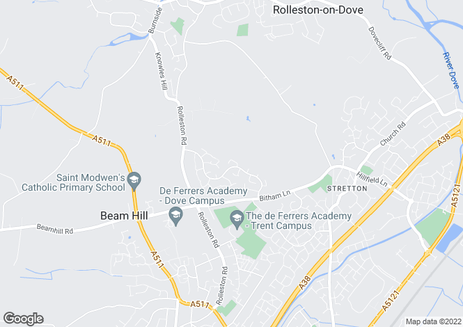 Map for Gleneagles Drive, Stretton, Burton-on-Trent, Staffordshire