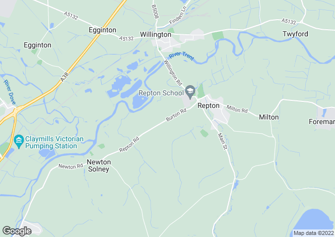 Map for Burton Road, Repton, Derbys. DE65 6FN
