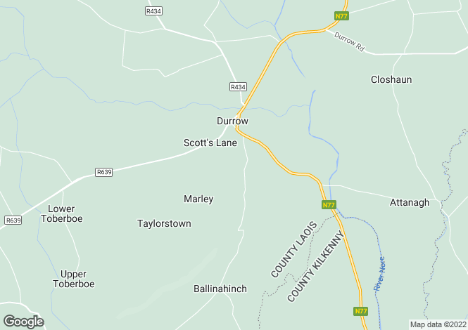 Map for Laois, Durrow