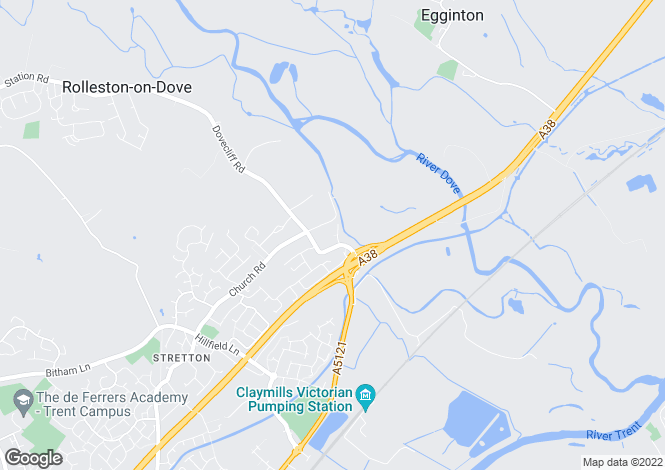 Map for Rose Avenue, Stretton
