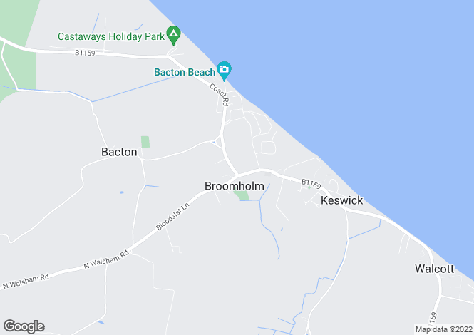 Map for Bacton, Norfolk