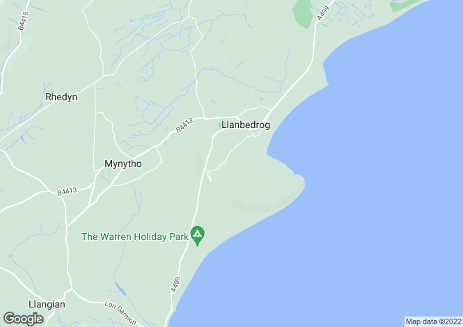 Map for Llanbedrog,