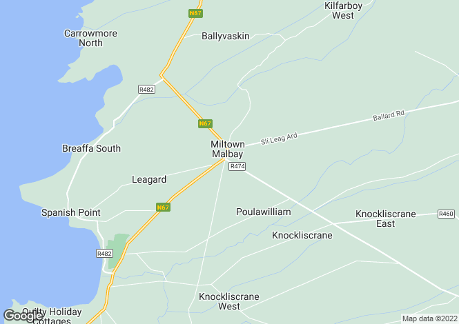 Map for Miltown Malbay, Miltown Malbay, Clare