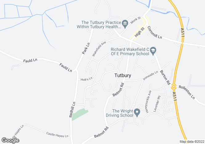 Map for Ferrers Avenue, Tutbury, Burton upon Trent, DE13 9JJ