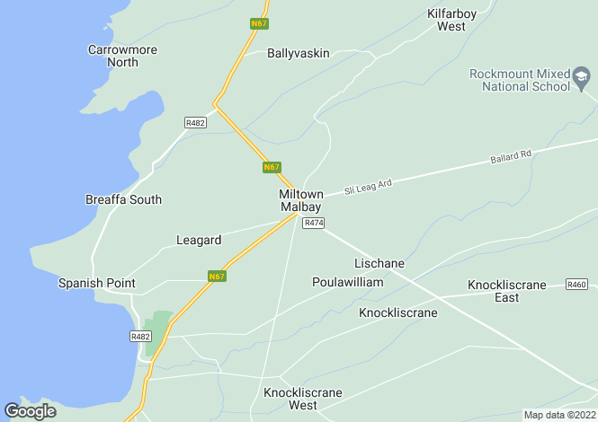 Map for Milltown Malbay, Clare