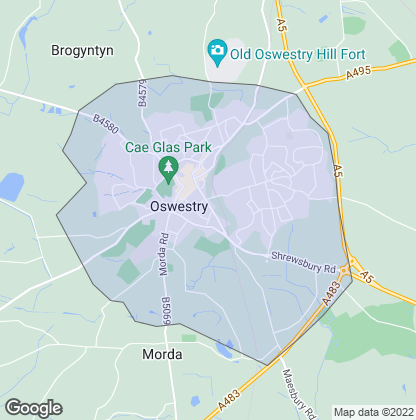 Map of property in Oswestry