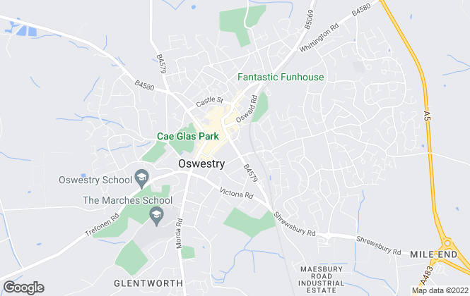 Map for Roger Parry & Partners, Oswestry
