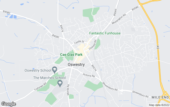 Map for J.J. Dell & Co, Oswestry