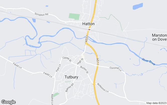 Map for Scargill Mann & Co, Tutbury