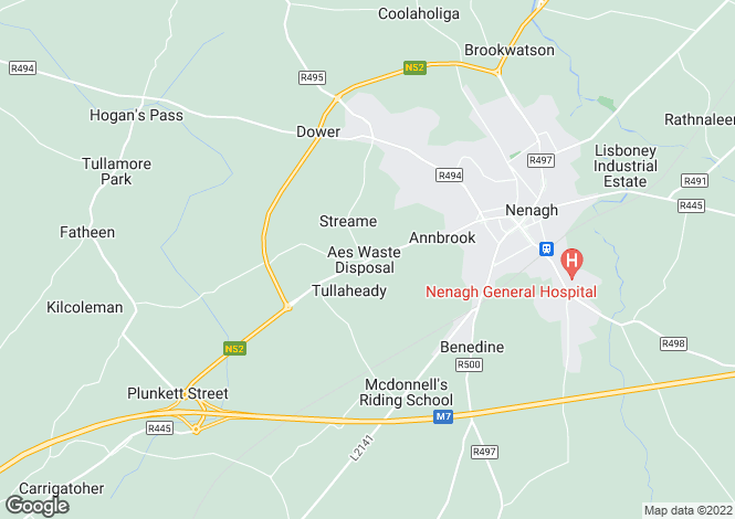 Map for 38 Springfort Meadows, Nenagh, Tipperary