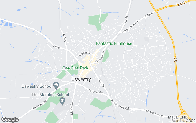 Map for YOUR MOVE, Oswestry