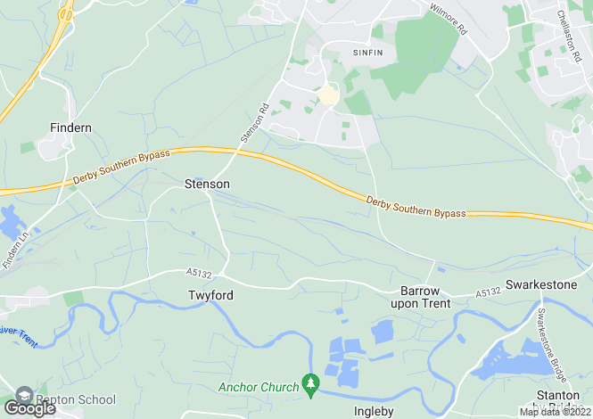 Map for Arleston Lane, Barrow On Trent, Barrow On Trent, Derbyshire