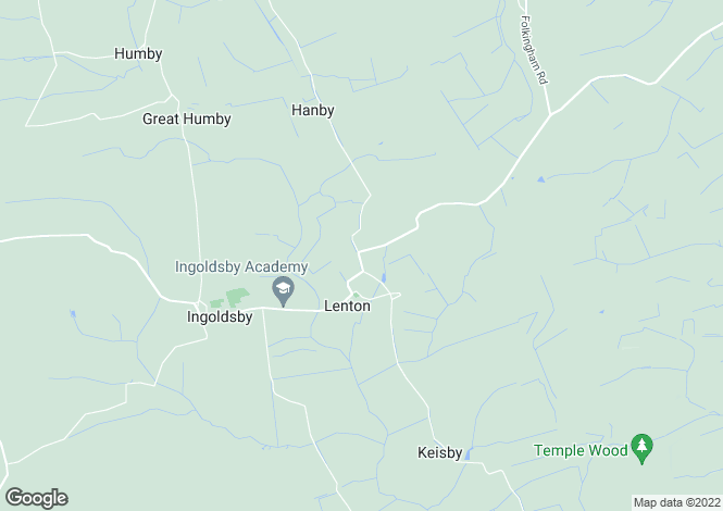 Map for Hanby Road, Lenton, Grantham, Lincolnshire