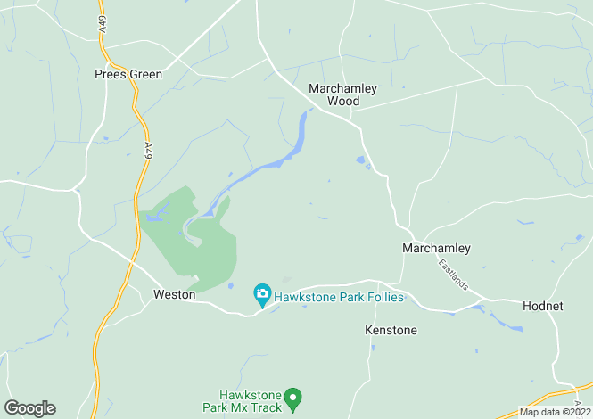Map for Hawkstone Hall, Hawkstone, Shrewsbury
