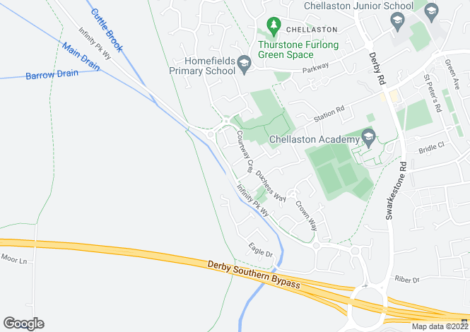 Map for Realm Close Chellaston DE73 5WT