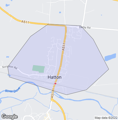 Map of property in Hatton