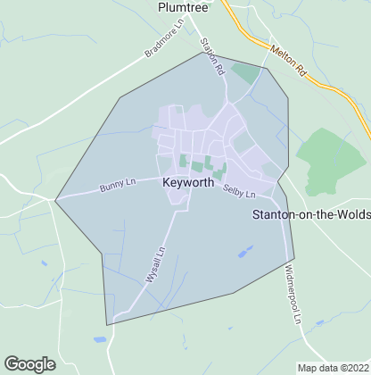 Map of property in Keyworth