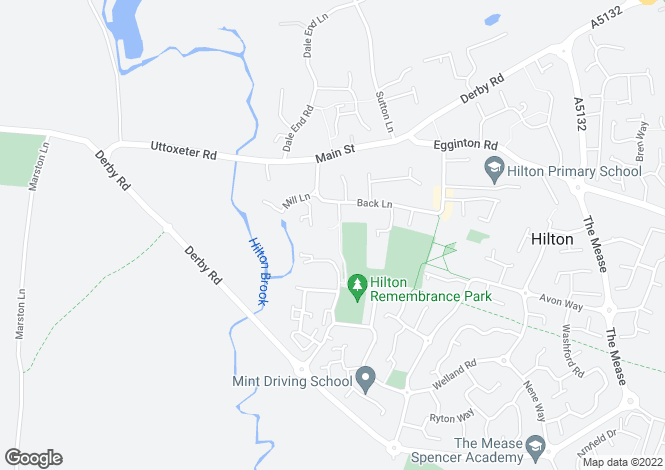 Map for Meadow Lane, Hilton, Derby, Derbyshire