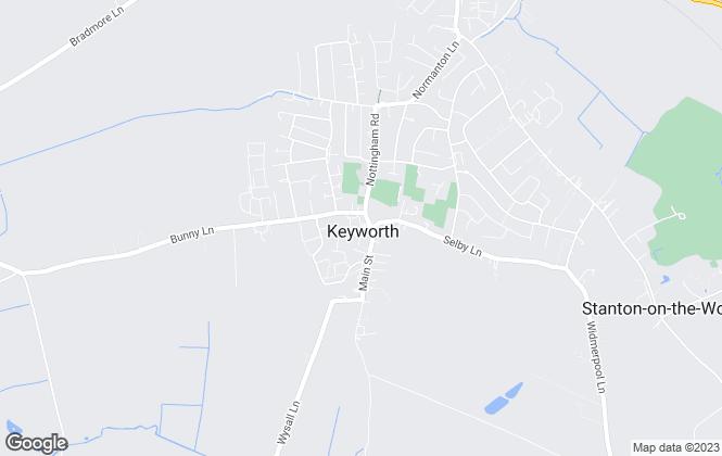Map for John Day, Keyworth, Nottingham