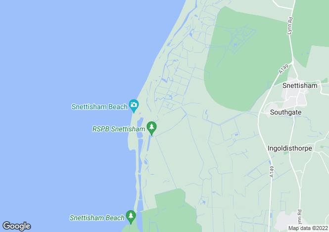 Map for Beach Road, Snettisham, King's Lynn, Norfolk, PE317RA