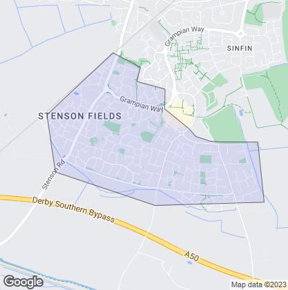 Map of property in Stenson Fields