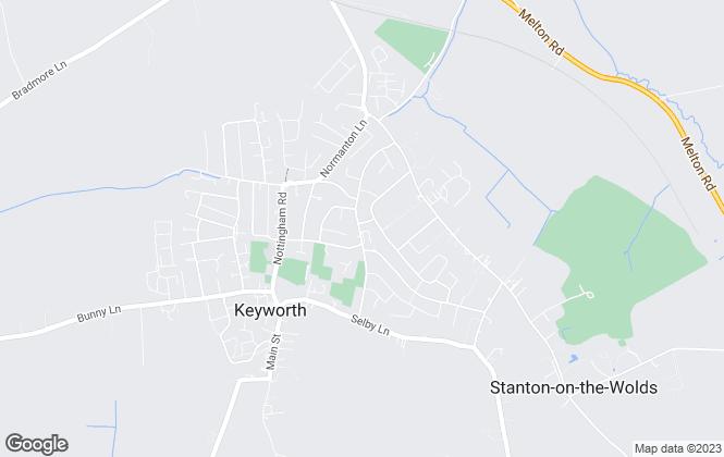 Map for Benjamins, Keyworth