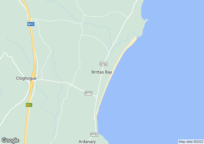 Map for Heatherlea ,Ballyflannigan, Brittas Bay, Wicklow