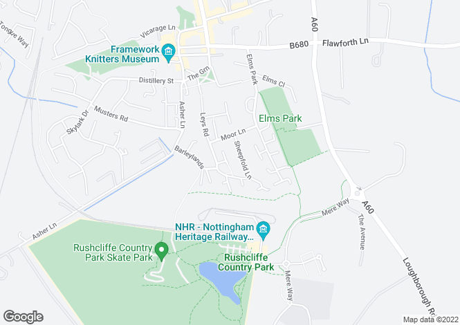 Map for Sellars Avenue<br>Ruddington<br>Nottingham