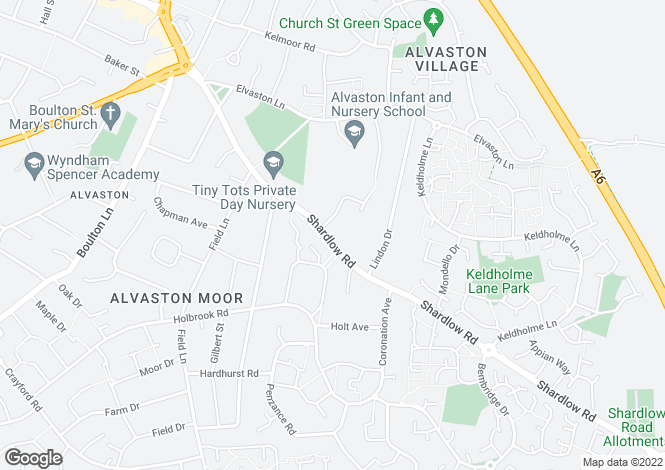 Map for Shardlow Road, Alvaston, Derby