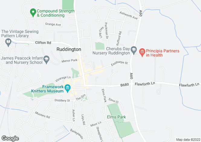 Map for Easthorpe Street, Ruddington, Nottinghamshire, NG11 6LA