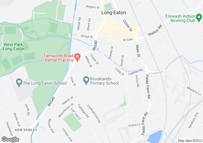 Map for Lawson Avenue, Long Eaton