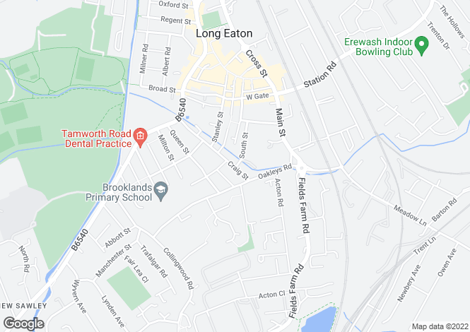 Map for Craig Street, Long Eaton, Nottingham, NG10  1ET