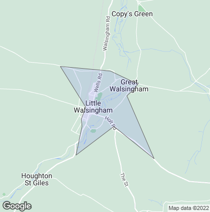 Map of property in Walsingham