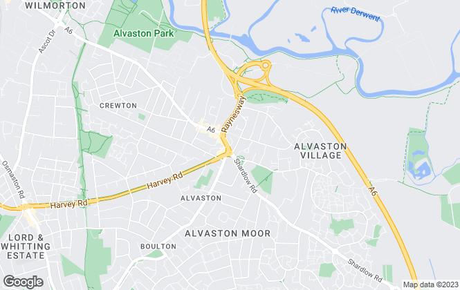 Map for Hannells Estate Agents, Alvaston