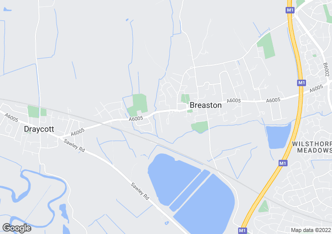 Map for Draycott Road, Breaston