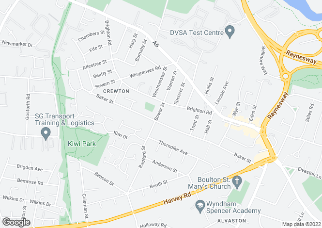 Map for Bower Street, ,  Alvaston
