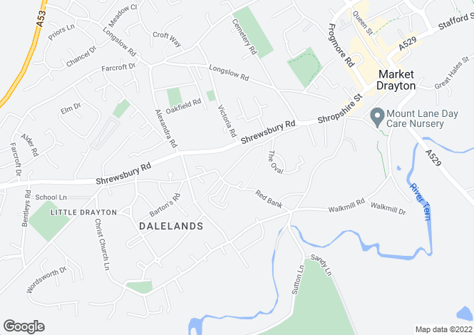 Map for 32-34, Salisbury Road, Market Drayton, Market Drayton