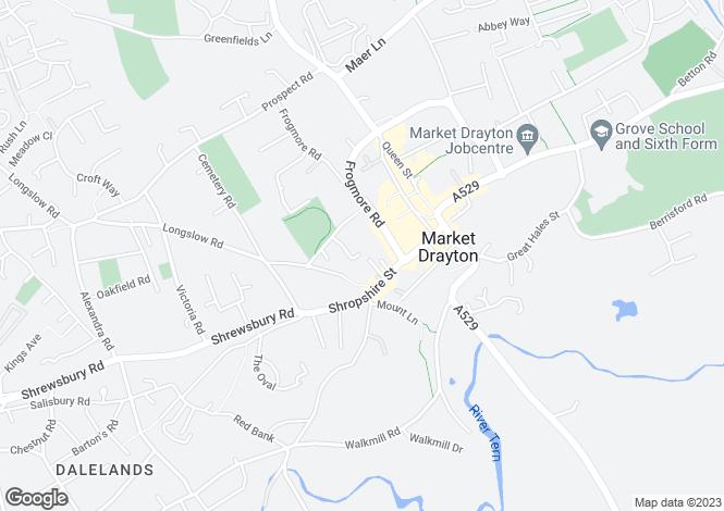 Map for Oak View, Market Drayton, TF9