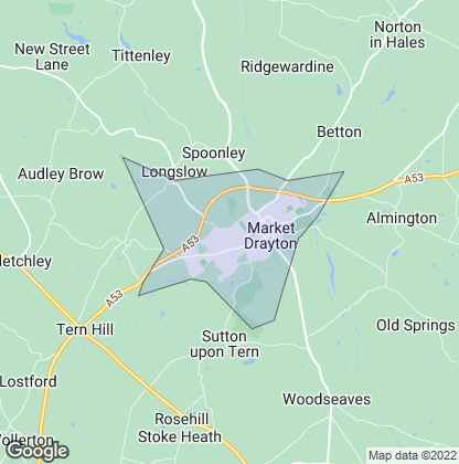 Map of property in Market Drayton